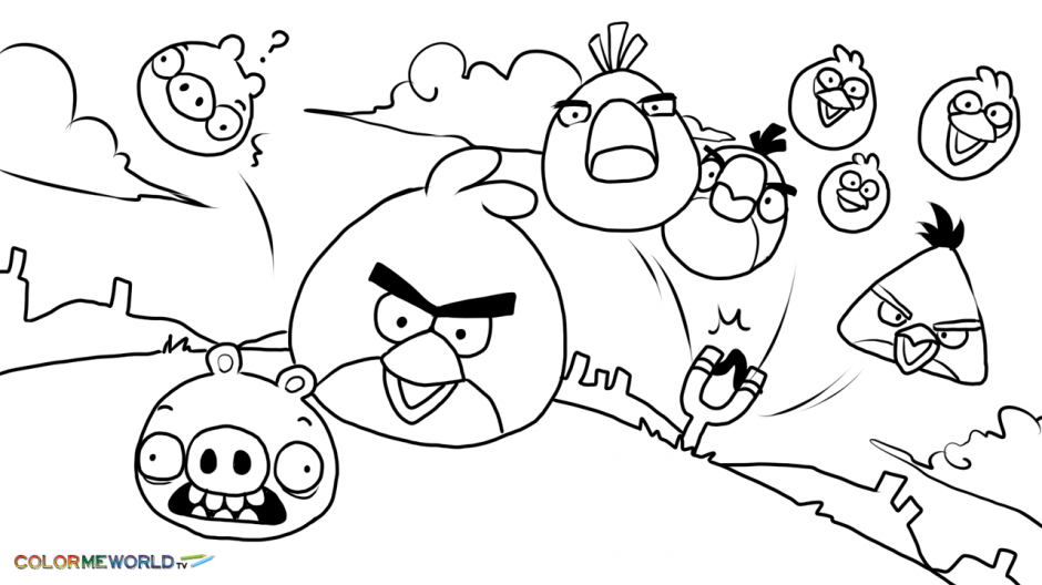 ▷ Angry Birds: Coloring Pages & Books - 100% FREE And Printable!