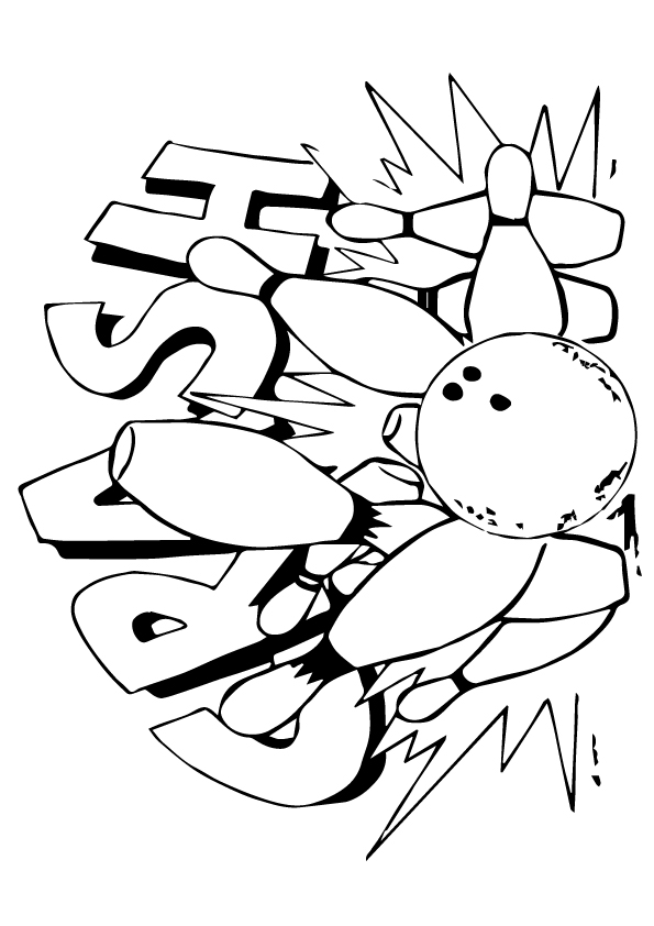 Bowling: Coloring Pages & Books - 100% FREE and printable!