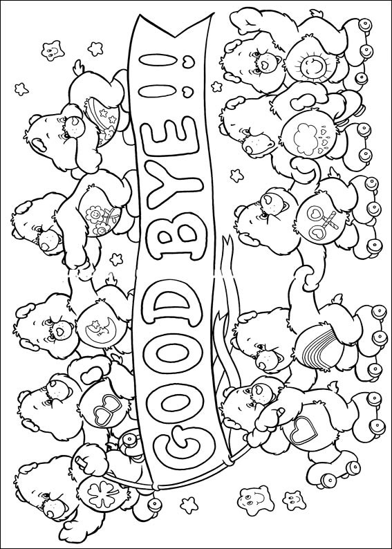 Care Bears Coloring Pages Books 100 Free And Printable