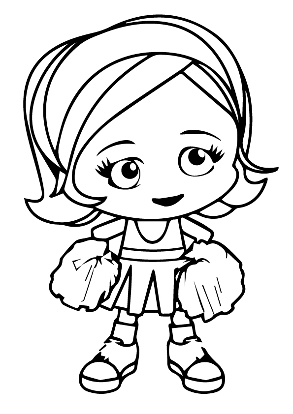Printable Cheerleading Coloring Pages For Kids | 842x595