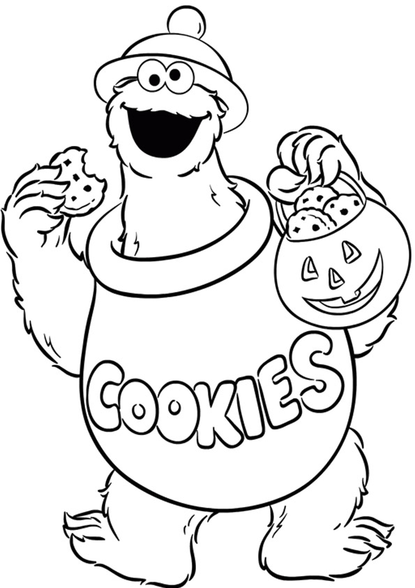 ▷ Cookie Monster: Coloring Pages & Books - 100% FREE and ...