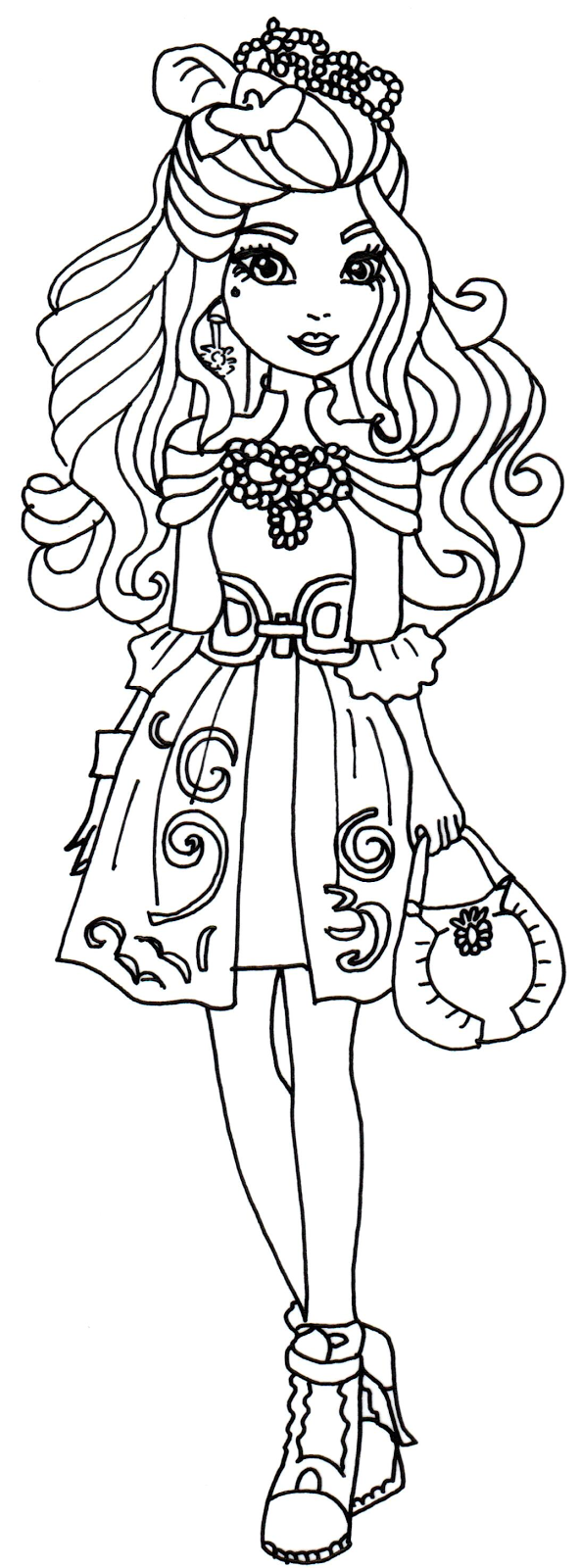 Ever After High Coloring Pages Books 100 Free And Printable