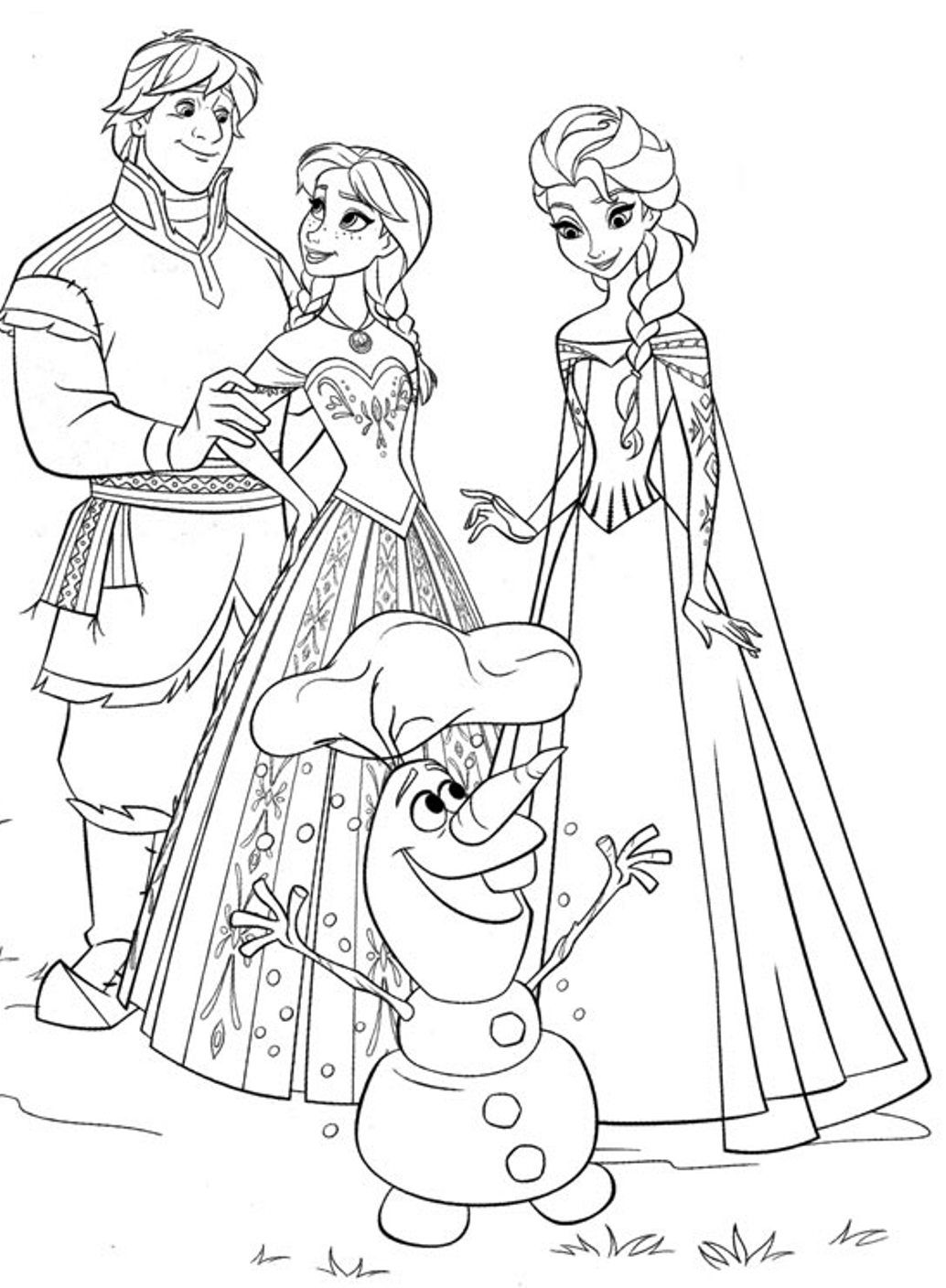 Frozen Olaf Coloring Pages Books 100 Free And