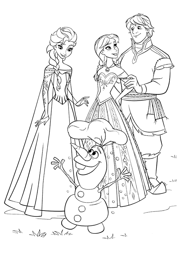 Current image pertaining to olaf printable coloring page