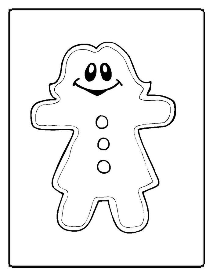 Gingerbread Man: Coloring Pages & Books - 100% FREE and ...