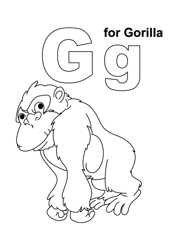 Free Cute Gorilla Coloring Pages, Download Free Clip Art, Free ... | 842x595