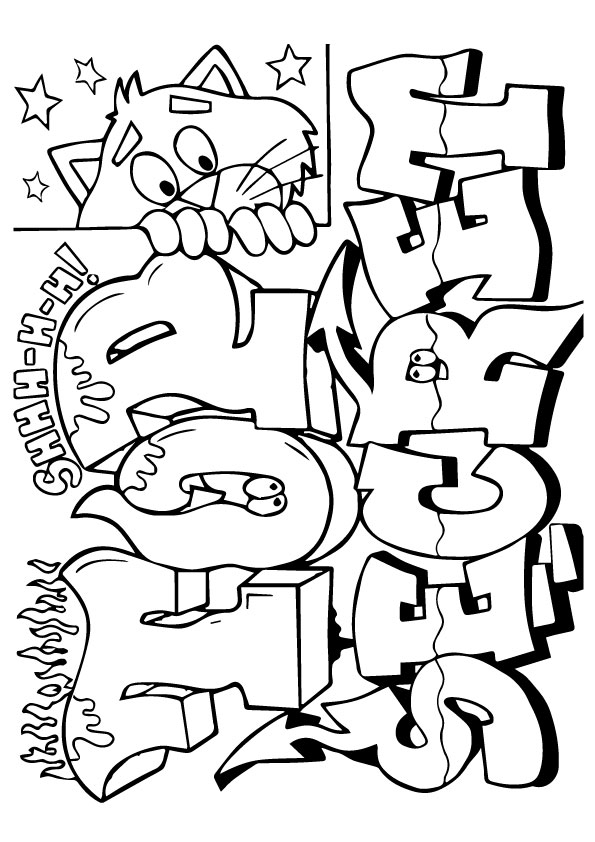 Graffiti Coloring Pages Amp Books 100 Free And Printable