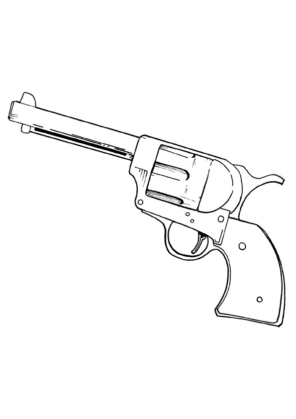 Gun Coloring Pages Books 100 Free And Printable