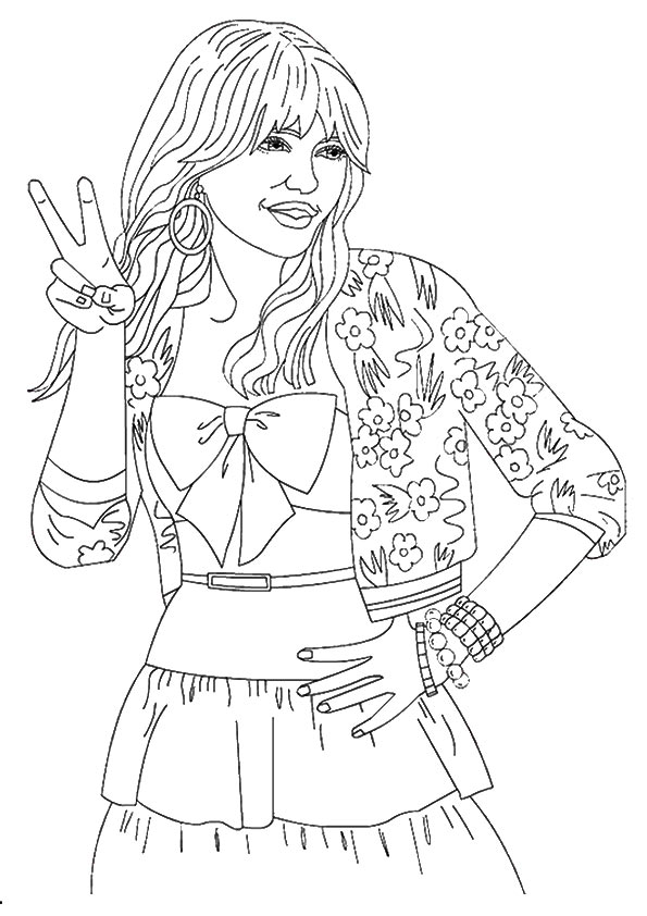 Hannah montana Coloring Pages | 842x595