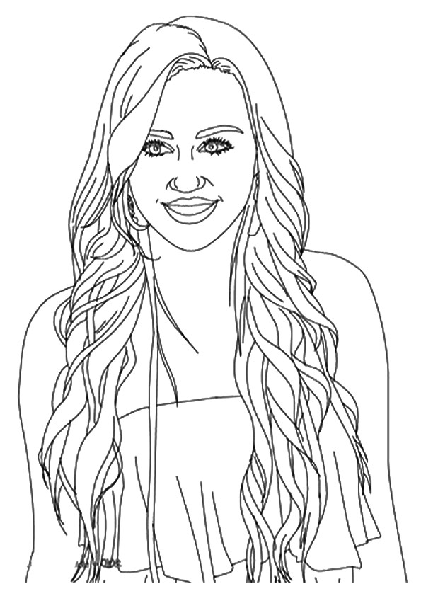 free hanna montana coloring pages | Hannah Montana: Coloring Pages & Books - 100% FREE and ...