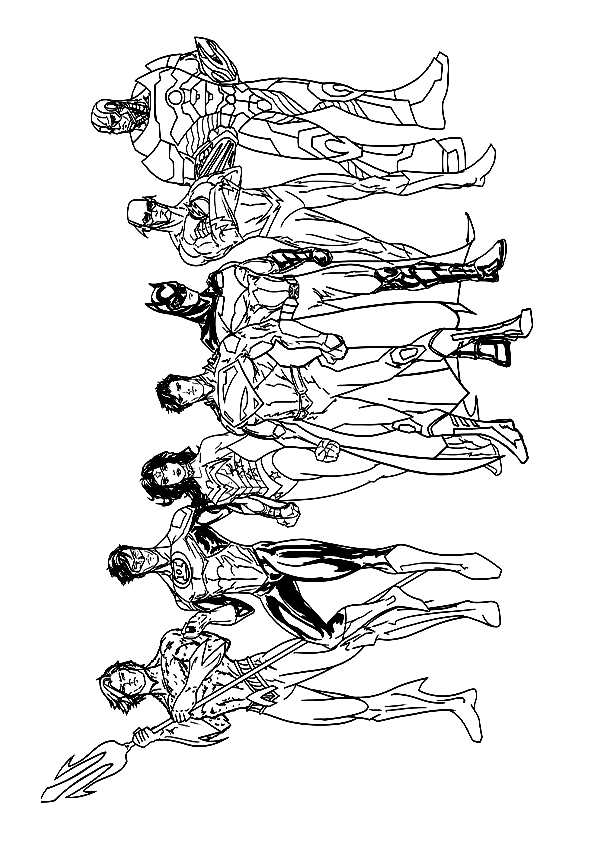 Justice League Coloring Pages Amp Books 100 Free And