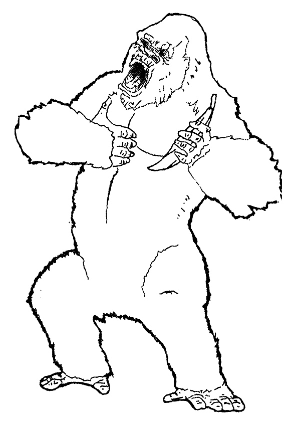 King Kong Coloring Pages Books 100 Free And Printable