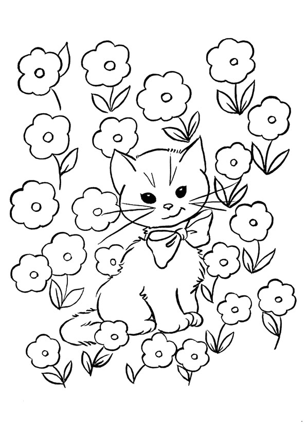 Kitten Coloring Pages Books 100 Free And Printable