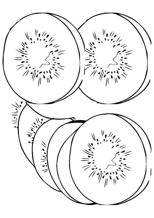 Example coloring page Kiwi - Color picture of Kiwi   842x595