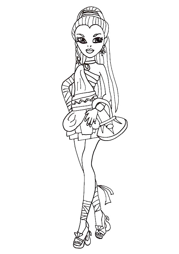 Monster High Coloring Pages Books 100 Free And Printable
