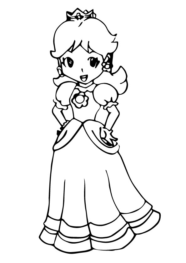 Princess Peach: Coloring Pages & Books - 100% FREE and ...
