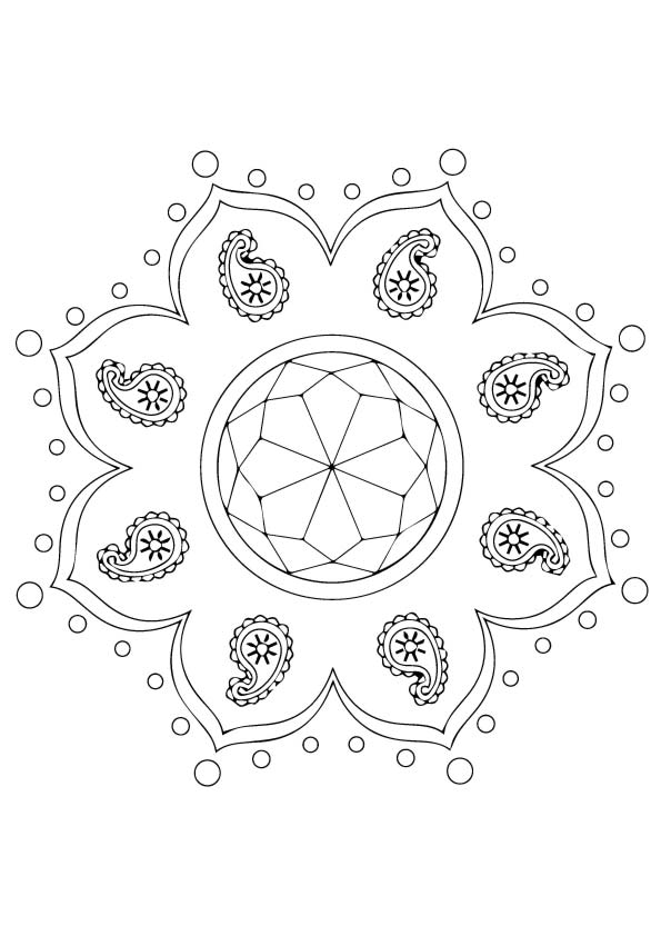 Rangoli Coloring Pages Books 100 Free And Printable