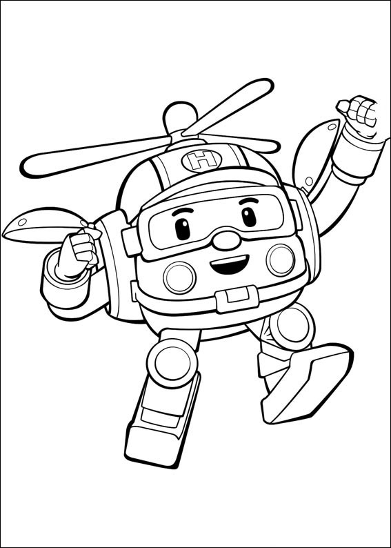 Robocar Poli Coloring Pages Books 100 Free And Printable