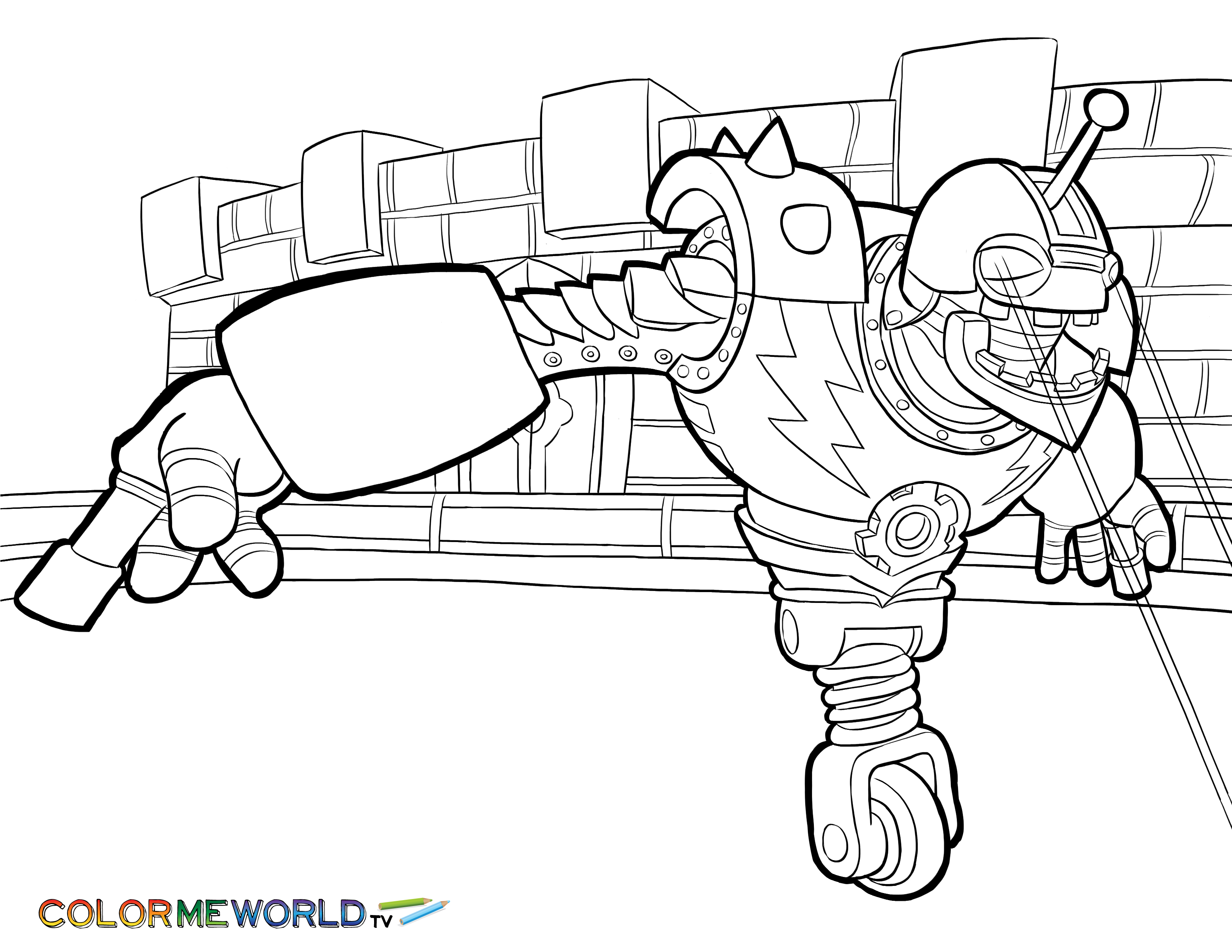 Free Printable Skylanders Coloring Pages | 2550x3300