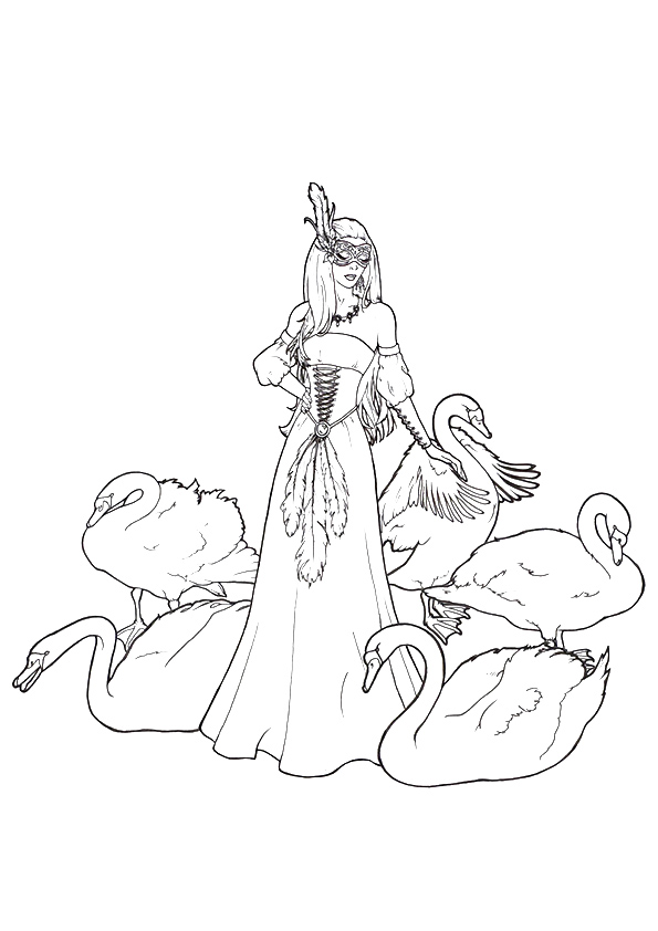 Swan Coloring Pages Books 100 Free And Printable