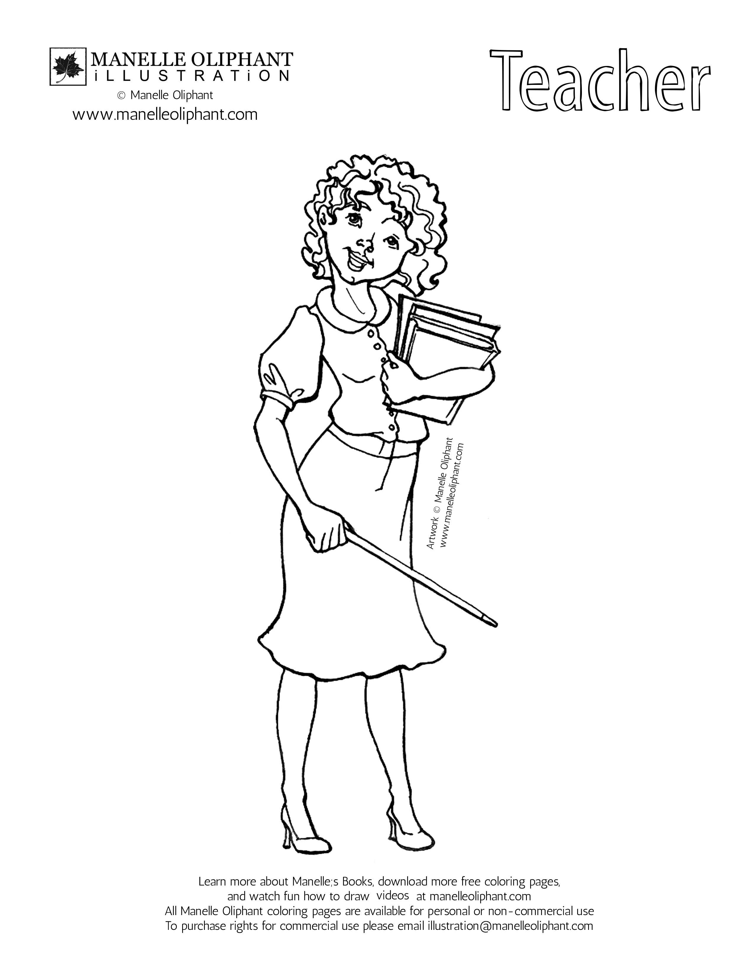 ▷ Teacher: Coloring Pages & Books - 100% FREE and printable!