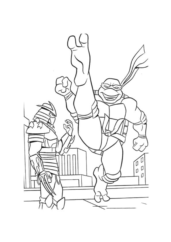 Tiger ninja turtles coloring pages ~ Teenage Mutant Ninja Turtles: Coloring Pages & Books - 100 ...