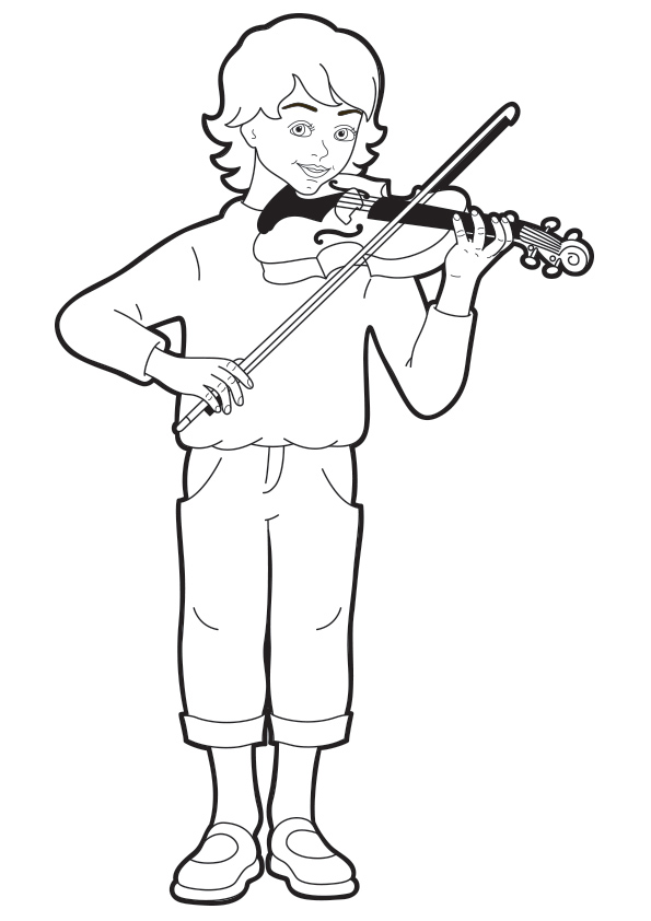 Violin Coloring Pages Books 100 Free And Printable