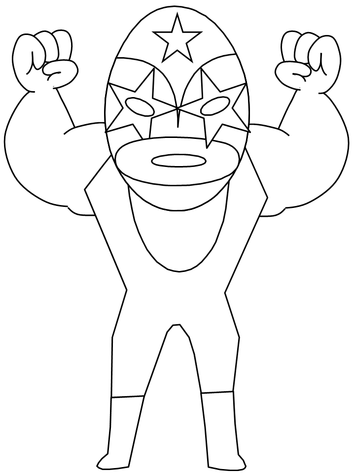 Collection Wrestling Coloring Book Pictures - Sabadaphnecottage