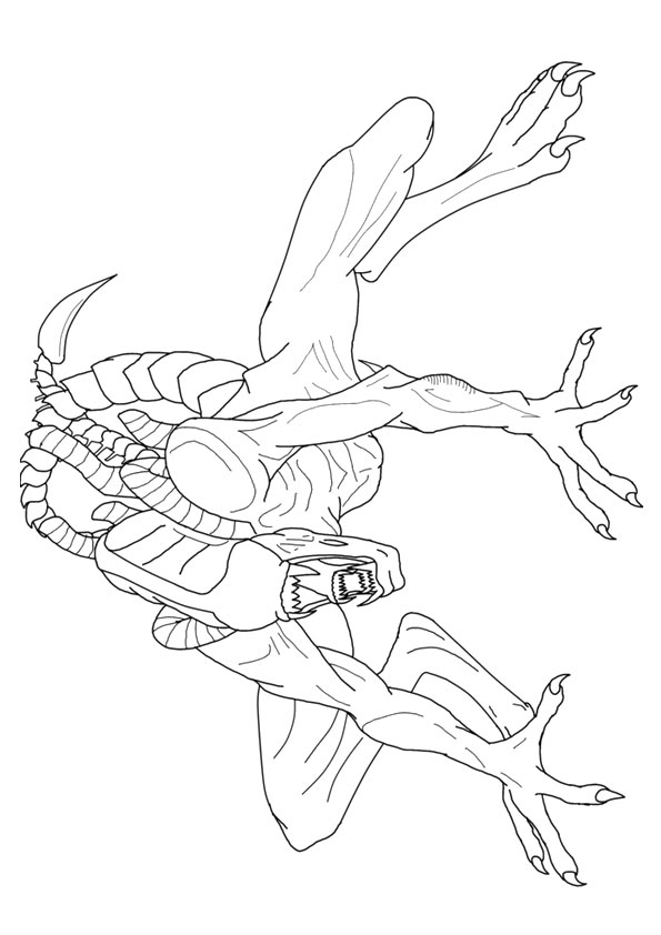 Alien Coloring Pages To And Print For adult | 842x595