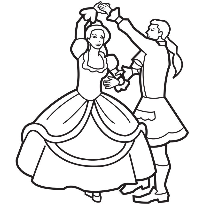 Prince & Princess Coloring Pages