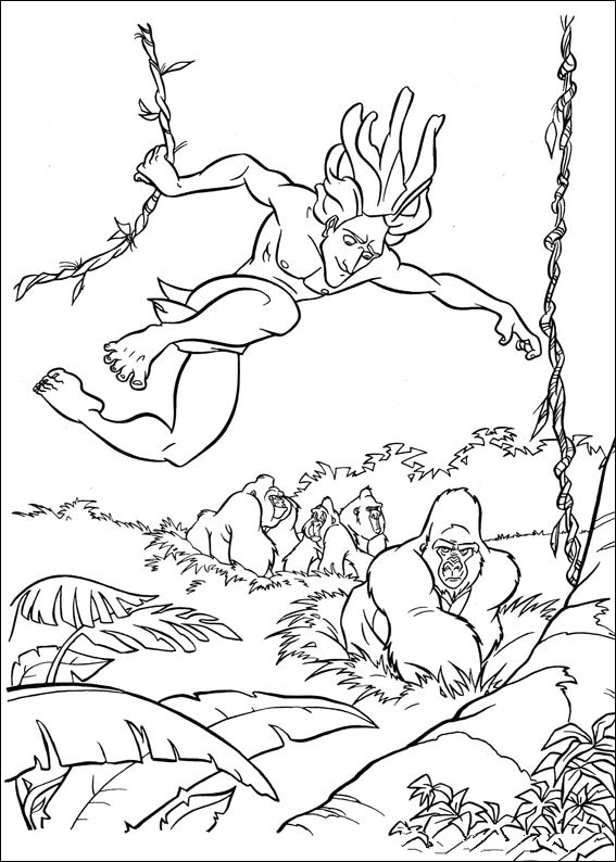 Tarzan  Coloring Pages  U0026 Books