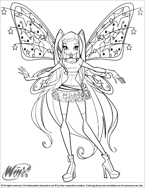 Winx Club Sirenix Bloom coloring page | Free Printable Coloring Pages | 792x612